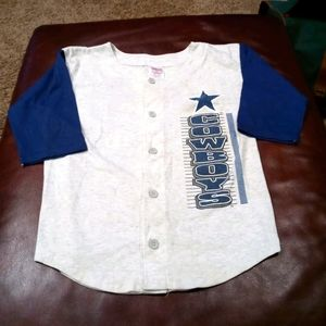 Vintage Dallas Cowboys Baseball Style Jersey